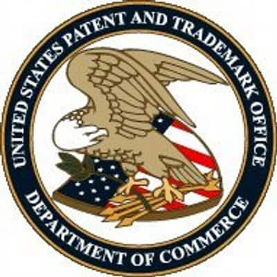 United States Patent and Trademark Office logo.