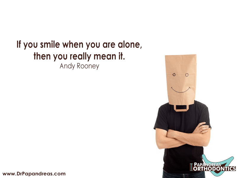 Andy Rooney- smile if you really mean it