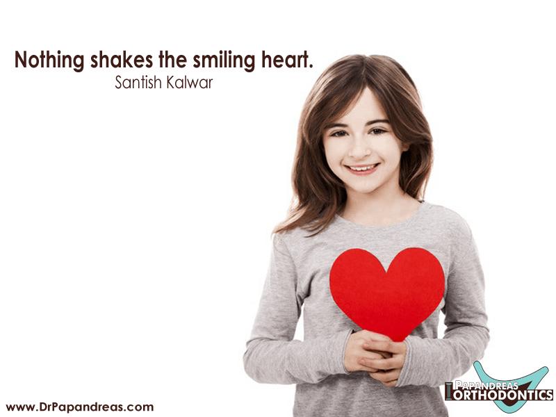 Nothing shakes the smiling heart - Santish Kalwar