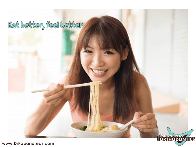 smile quote - eat better feel better