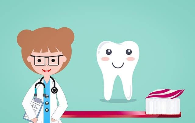 smiling tooth cartoon